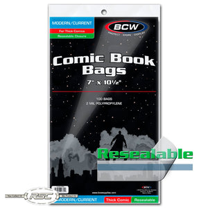 Modern / Current Thick Resealable 2-Mil Polypropylene Comic Bags