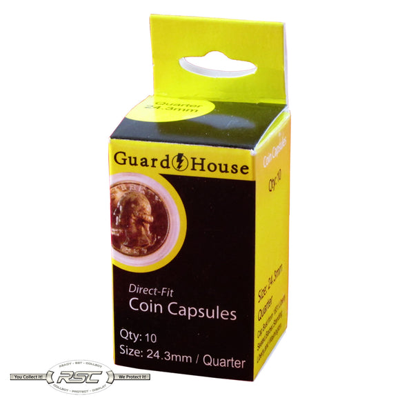 Direct Fit Capsules for Quarters - Pack of 10