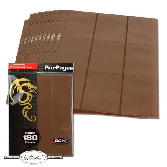 18-Pocket Pro Pages - Brown
