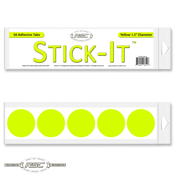 Stick-It™ Yellow Resealable Adhesive Tabs - Pack of 50