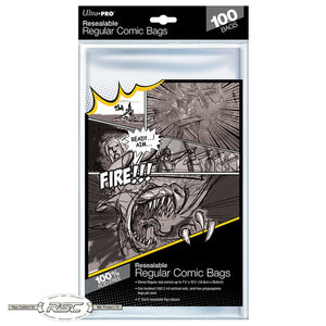 Regular Resealable 2-Mil Polypropylene Comic Bags