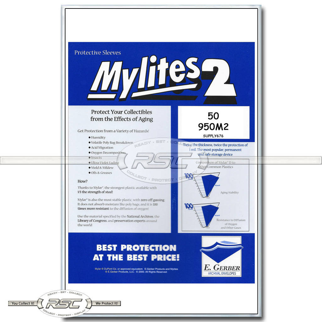 Mylites 2 Sheet Music & Large Magazines 2-Mil Mylar Bags