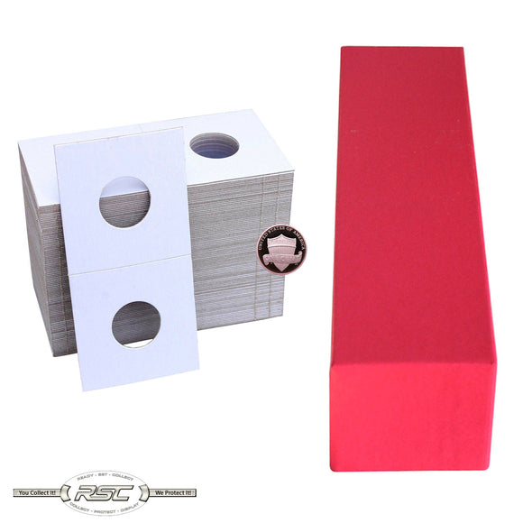2x2 Paper Flips and Red Storage Box for Cents