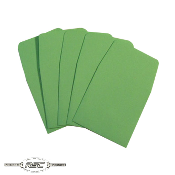 Green Archival Paper Coin Envelopes - Pack of 50