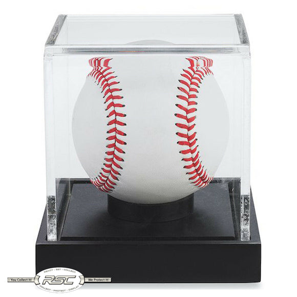 Baseball Display Case w/Black Base