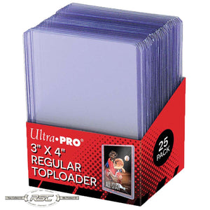 "3"" x 4"" Regular Clear Rigid Toploaders - Pack of 25"