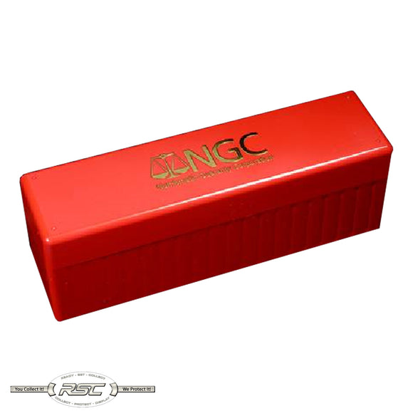 Official NGC 20-Slab Red Plastic Storage Box