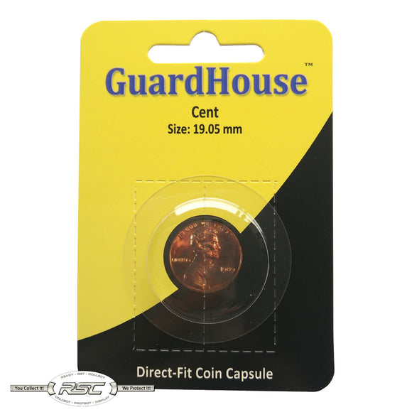 Direct-Fit Coin Capsule for U.S. Cent