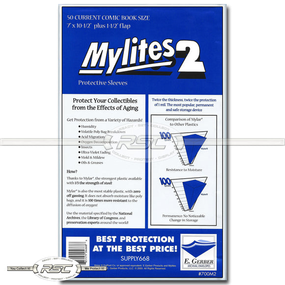 Mylites 2 Current 2-Mil Mylar Bags
