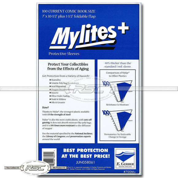 Mylites+ Current 1.4-Mil Mylar Bags
