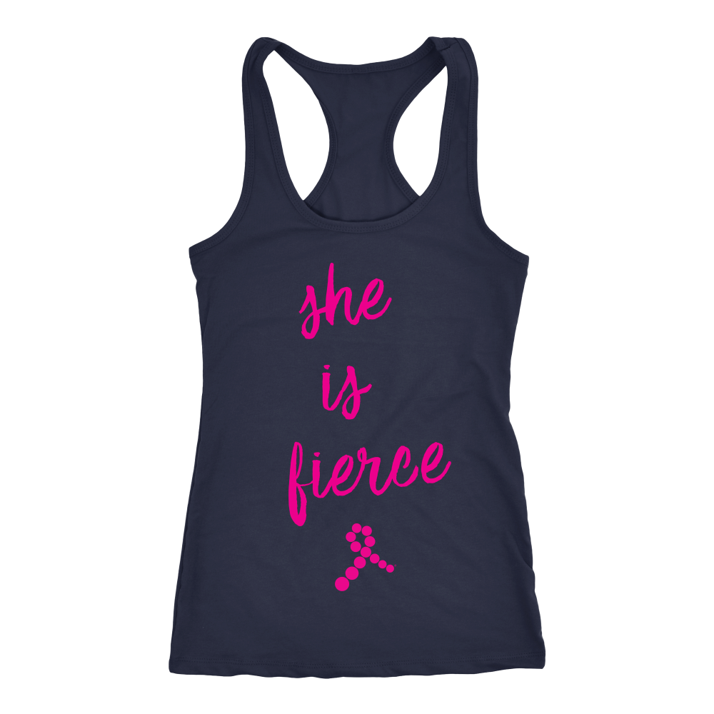 She is Fierce Tank (Magenta & Navy)