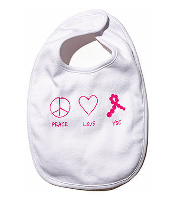 Peace, Love, YSC Baby Bib
