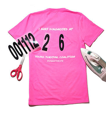 YSC Breast Cancer Survivor Event Tee with Age