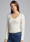 CM Bamboo Long Sleeve Scoop Neck Top