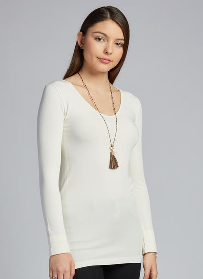 CM Bamboo V-Neck Long Sleeve Top