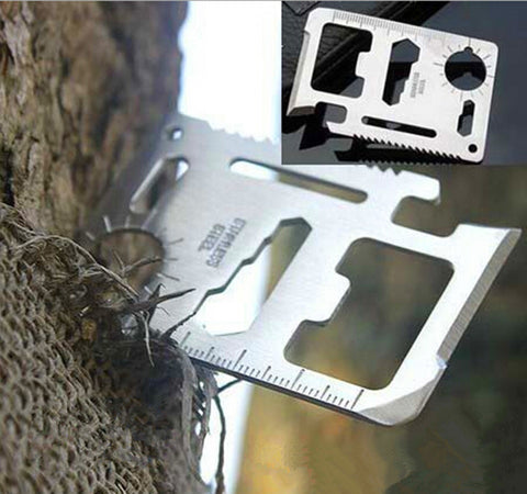 Credit Card Sized 11-in-1 Multi-Function Survival Tool