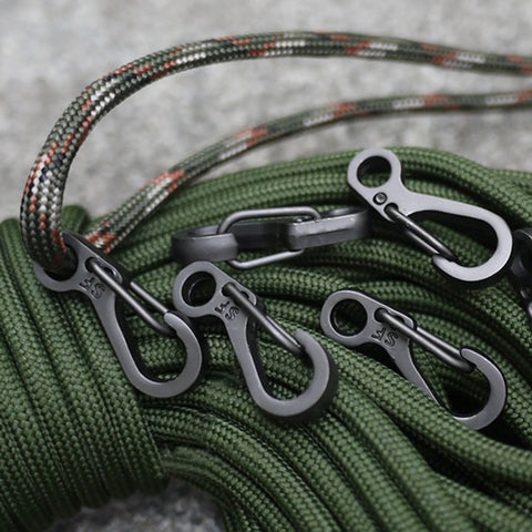 5PCS Alloy Spring Buckle Snap Carabiner