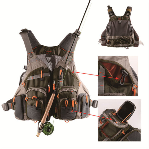 Adjustable Mesh Fishing Vest