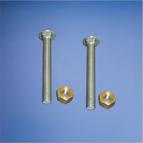 "5/8"" x 5 1/2"" Zinc Plated Steel Board Bolt with nut"
