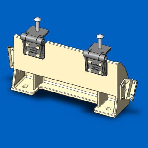 Short Stand Anchor Assembly for stands with rails (with hinges)