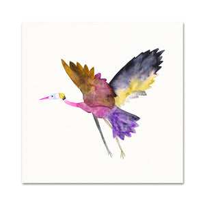 Baby Shower Gift. Watercolor Bird Art.