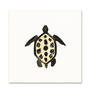 Coastal Wall Art. Watercolor Sea Life. Turtle Art Print.