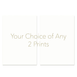 Set of Any 2 Prints of Your Choice at a Discount!
