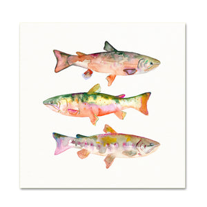 Coastal Wall Art. Watercolor Trout.