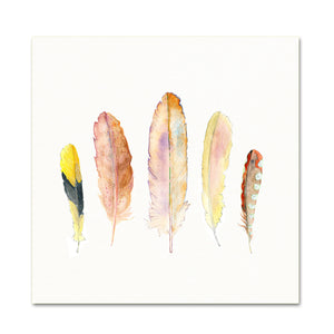 Nursery Wall Art. Nature Inspired Decor. Feather Art Print.