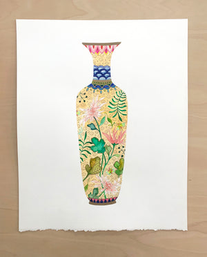 "Antique Vase No. 1 - 15""x19"" on Cold Press Watercolor Paper"
