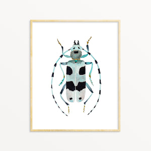 Nursery Wall Art. Nature Inspired Decor. Beetle Art Print.