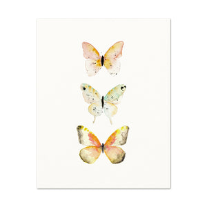 Nursery Wall Art. Nature Inspired Decor. Butterfly Art Print.