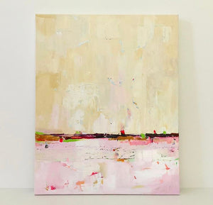 Pink Abstract Art. Original Abstract Acrylic Painting on Canvas