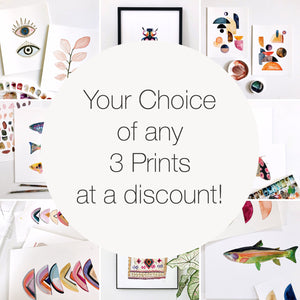 Set of Any 3 Print of Your Choice at a Discount!