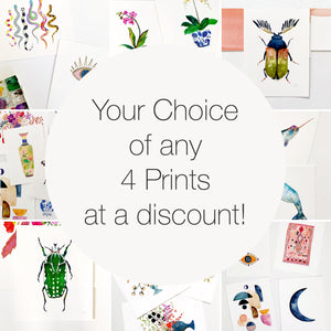 Set of Any 4 Prints of Your Choice at a Discount!