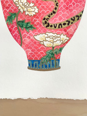 "Antique Vase No. 3 - 15""x19"" on Cold Press Watercolor Paper"