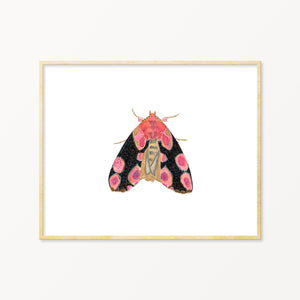 Nursery Wall Art. Nature Inspired Decor. Moth Art Print.