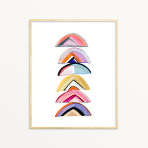 Abstract Wall Art. Colorful Watercolor Contemporary Decor.