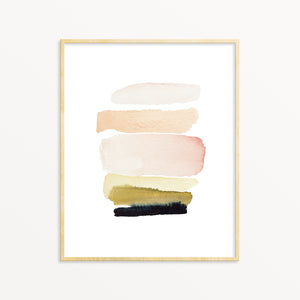 Abstract Wall Art. Pastel Modern Decor.