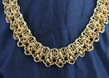 Gold-toned Rondo weave necklace