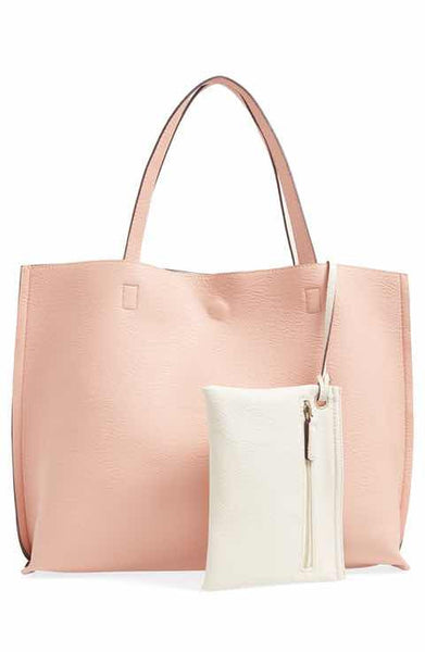 Street Level Blush/Ivory Reversible Tote