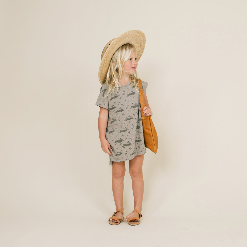 Rylee + Cru BUNNY T-SHIRT DRESS - Gemgem  - 1