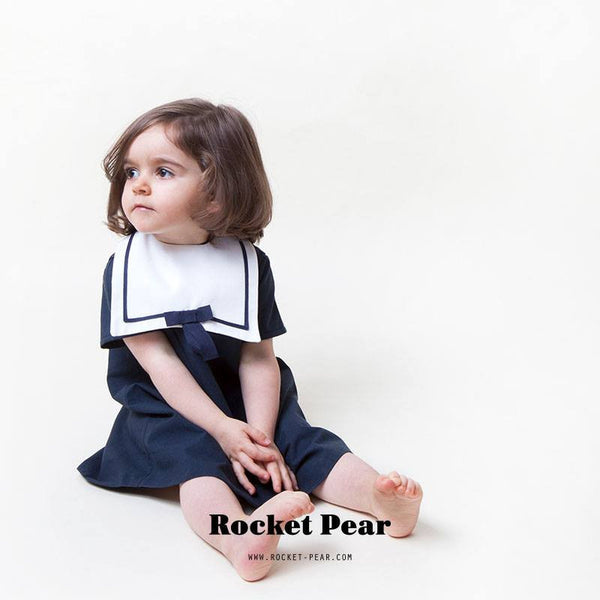 Rocket Pear sailor bib with bow tie - Gemgem  - 1