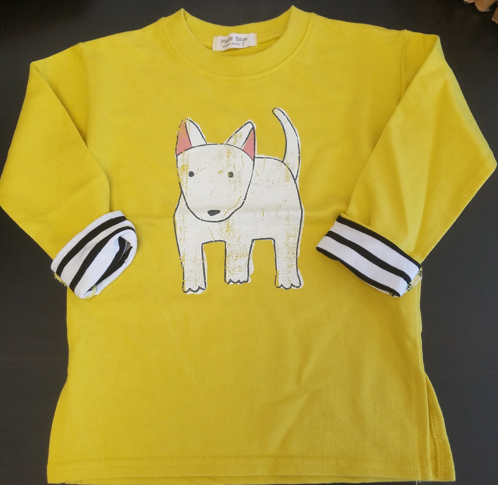 Made Blue Dog Long Sleeve Shirt