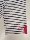 Little Joules Navy and White Striped Shorts