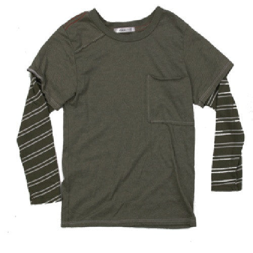[Joah Love] Military Layered Tee - Gemgem