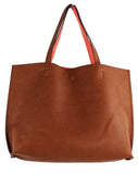 Street Level Reversible Tote Brown/Salmon