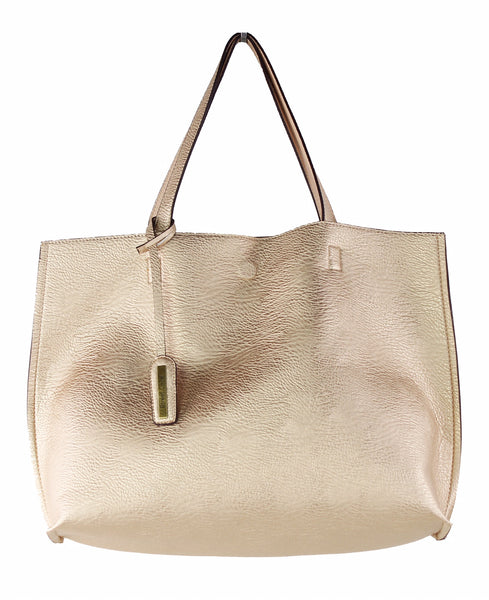 Street Level Gold/Nude Reversible Tote