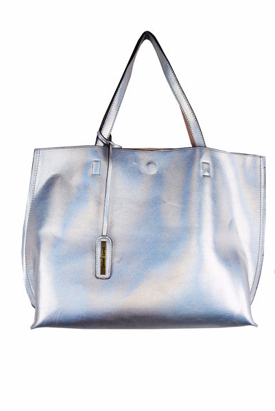 Street Level Silver/Nude Reversible Tote