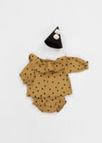 Rylee + Cru Dots N' Diamonds Collar Blouse / Mustard